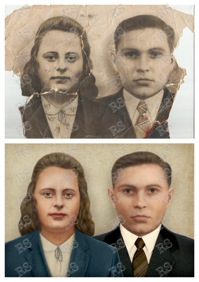 Раскрашивание черно-белых фотографий – Ретушь Cервис